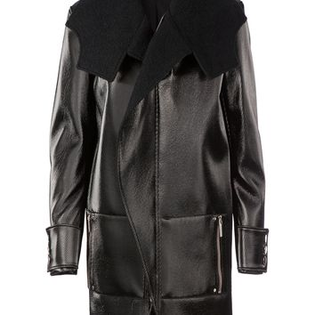 Anthony Vaccarello structured lacquered coat