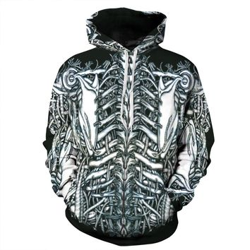 Skeleton All Over Print Hoodie - Custom Sweater