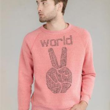 World Peace on Alternative Apparel Eco Fleece Sweatshirt by rctees