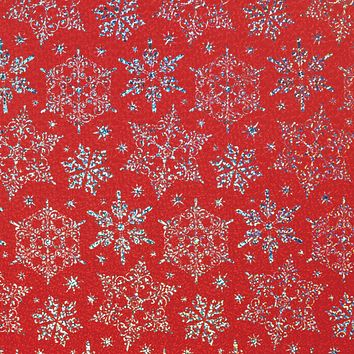 Christmas Gift Wrapping Paper, Holographic Snowflake (6 Jumbo Rolls 10ft x 30in)