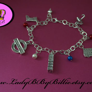 London Charm Bracelet - Going Underground All London Themed and Inspired