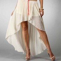 Ivory Hi Low Hem Wrap Skirt