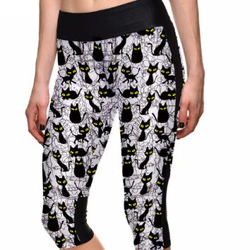Spooky Black Cat Legging