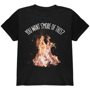 DCCKU3R Autumn You Want S'more of This Bonfire Pun Youth T Shirt