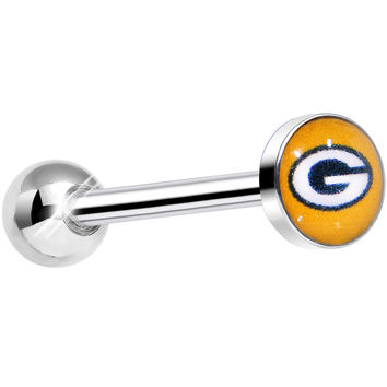 Officially Licensed NFL Green Bay Packers Barbell Tongue Ring