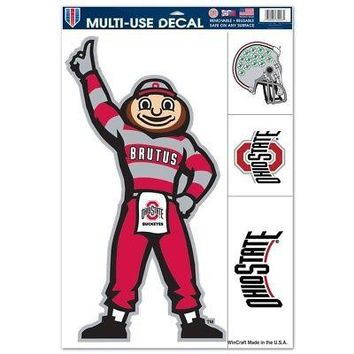 "Licensed Ohio State Buckeyes Official NCAA 11""x17"" MultiUse Car Decal by Wincraft 429872 KO_19_1"