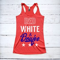 Red White and Boujee Fourth of July Tank Top