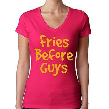 Fries Before Guys Women's Sporty V Shirt
