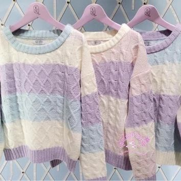 Macaron Inspired Knitted Sweater