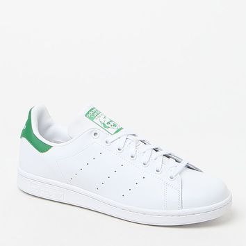 adidas Stan Smith White and Green Shoes at PacSun.com