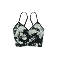 Jenni by Jennifer Moore Womens Tie-Dye Long Line Bralette