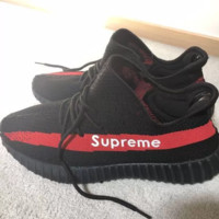 Yeezy Boost 350 v2 x Supreme Women Men Casual Running Sport Shoes Sneakers Shoes