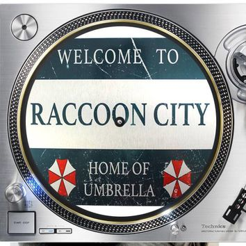 Raccoon City Resident Evil  Horror 12 inch  Slip mat Turntable Vinyl decor Record collection DJ audiophile 16 ounce Slipmat x1.