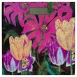 Pink Botanical Tulips Oil Brush Painting Bathroom Scale