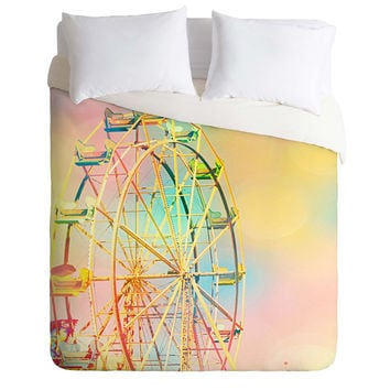 Shannon Clark Ferris Wheel Fun Duvet Cover