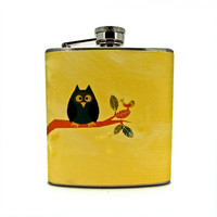 Out on a Limb Flask by thehairofthedog on Etsy