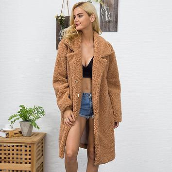 fuzzy fur luxury trench coat