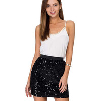 Sequined Bodycon Mini Skirt