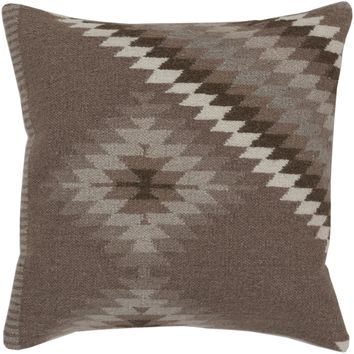 Kilim Throw Pillow Brown, Gray