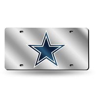 Dallas Cowboys NFL Laser Cut License Plate Cover Silver