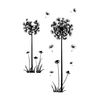 Removable PVC Dandelion Wall Stickers Assortment Art Murals Vinyl Wall Decals TV Background Home DIY Decor For Bedroom Living Room Bathroom 50 x 70 CM