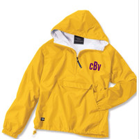 Charles River Classic Solid Monogrammed Pullover Jacket