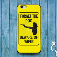iPhone 4 4s 5 5s 5c 6 6s plus iPod Touch 4th 5th 6th Generation Cute Funny Wife Husband Yellow Black Quote Meme Dog Phone Cover Gun Fun Case
