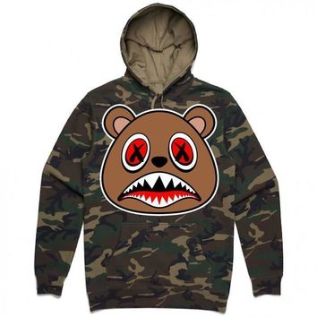 CINNAMON BAWS Army Camo Olive Sneaker Hoodie