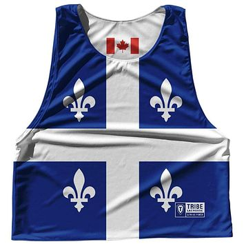 Quebec Province Flag and Canada Flag Reversible Lacrosse Pinnie