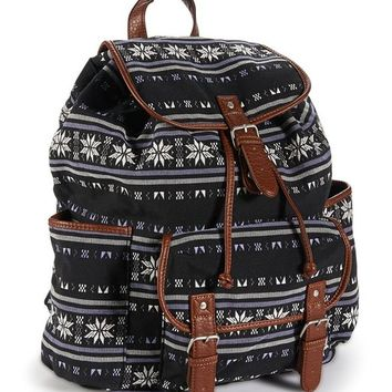 Aeropostale Women's Snowflake Backpack Black