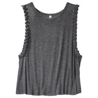 Xhilaration® Junior's Cropped Tank - Gray