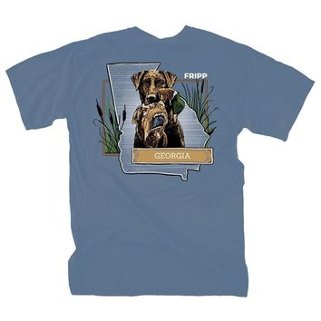 Dog & Duck Georgia T-Shirt in Marine Blue by Fripp Outdoors