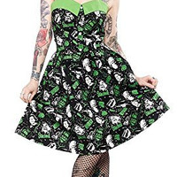 Sourpuss Peggy Horror Frankenstein Wolfman Dress
