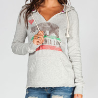 Billabong Follow Love Womens Hoodie Heather Grey  In Sizes