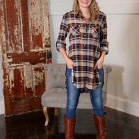 Falling for Plaid Tunic