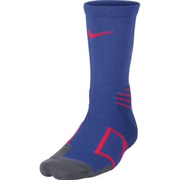 Nike Elite Crew Baseball Socks, Royal/Red, Small