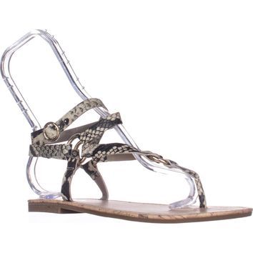 Circus by Sam Edelman Bree Flat Gladiator Sandals, Cashmere, 9 US / 39 EU