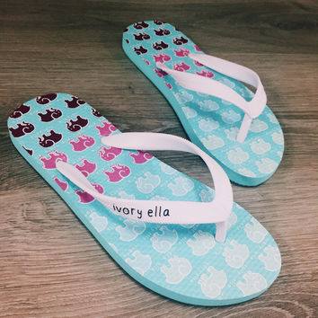 Blue Ella Shower Flops