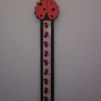 Lady Bug Hairbow Headband Combo Organizer By Sweetpeas Bows & More