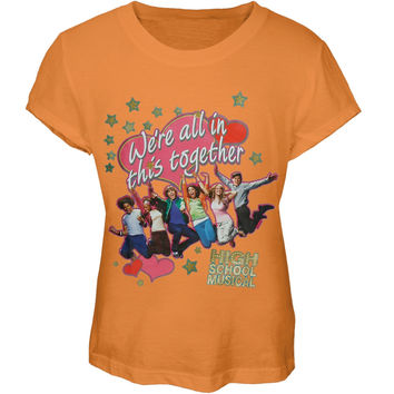 High School Musical - In This Together Girl's Peach T-Shirt