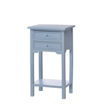 Side Tables With Storage, Cedar And Mdf Wood Blue Couch Side Table