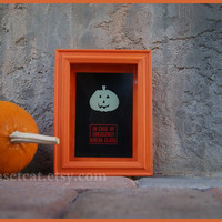 Halloween Decoration - In case of emergency - Halloween Ghost Foamy Glow in the Dark Fluorescent Orange Black Shadow Box Rusteam