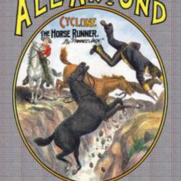 All Around Weekly: Cyclone, The Horse Runner: Fine art canvas print (12 x 18)