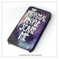 Normal People Scare Me iPhone 4 4S 5 5S 5C 6 6 Plus , iPod 4 5 , Samsung Galaxy S3 S4 S5 Note 3 Note 4 , HTC One X M7 M8 Case