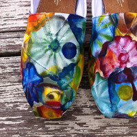 Custom hand painted TOMS, Explosion of Color