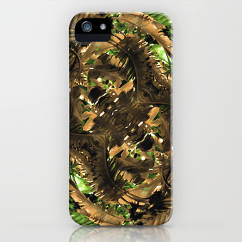 Artificial Tribal Jungle Print iPhone & iPod Case by Danflcreativo