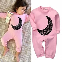 Newborn Winter Rompers Cute Toddler Baby Girl Boy Print Jumpers Rompers Playsuit Outfits Clothes
