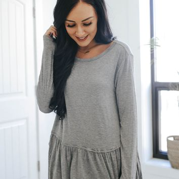 Sweetly Said Top - Grey