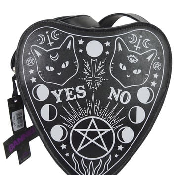 Planchette Kitty Moon Ouija Board Pointer Shape Crossbody Purse