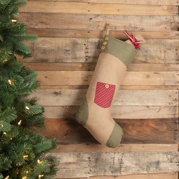 Dolly Star Red Pocket Stocking